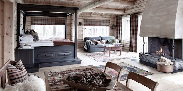 Secluded Scandi-style on a wooded, fjord fringed hilltop in Alpine Norway