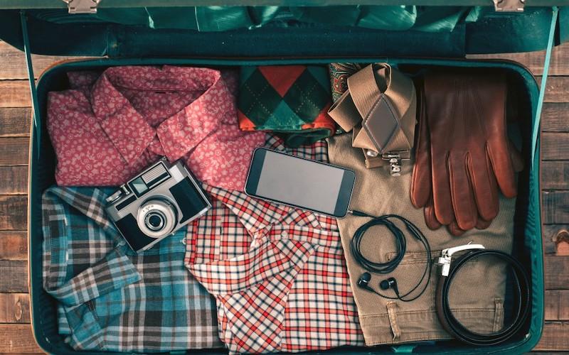 Plaid Shirt Suitcase