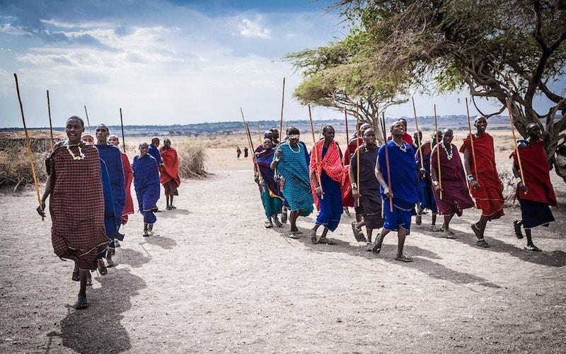 namibia river safari tribespeople