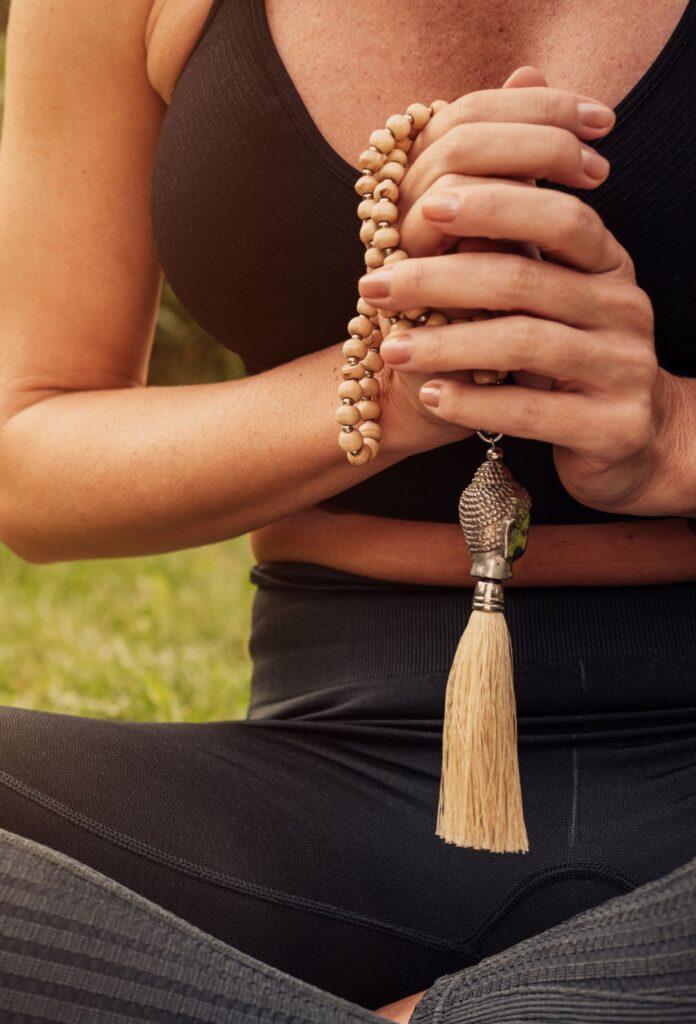 meditation with mala prayer beads