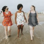 beautiful curvy women on beach