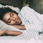 lovely woman sleeping