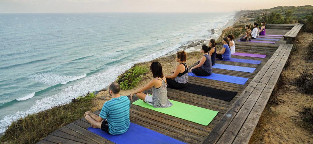 yoga retreat mats