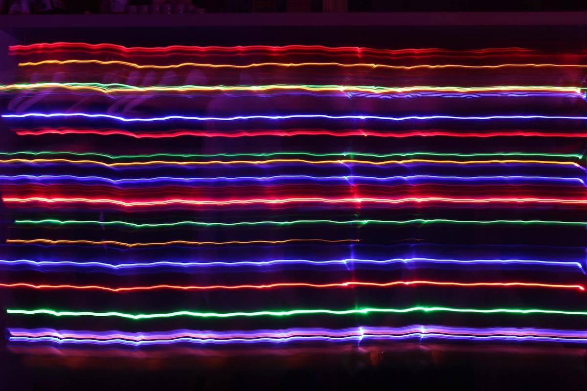 assorted light colour strips