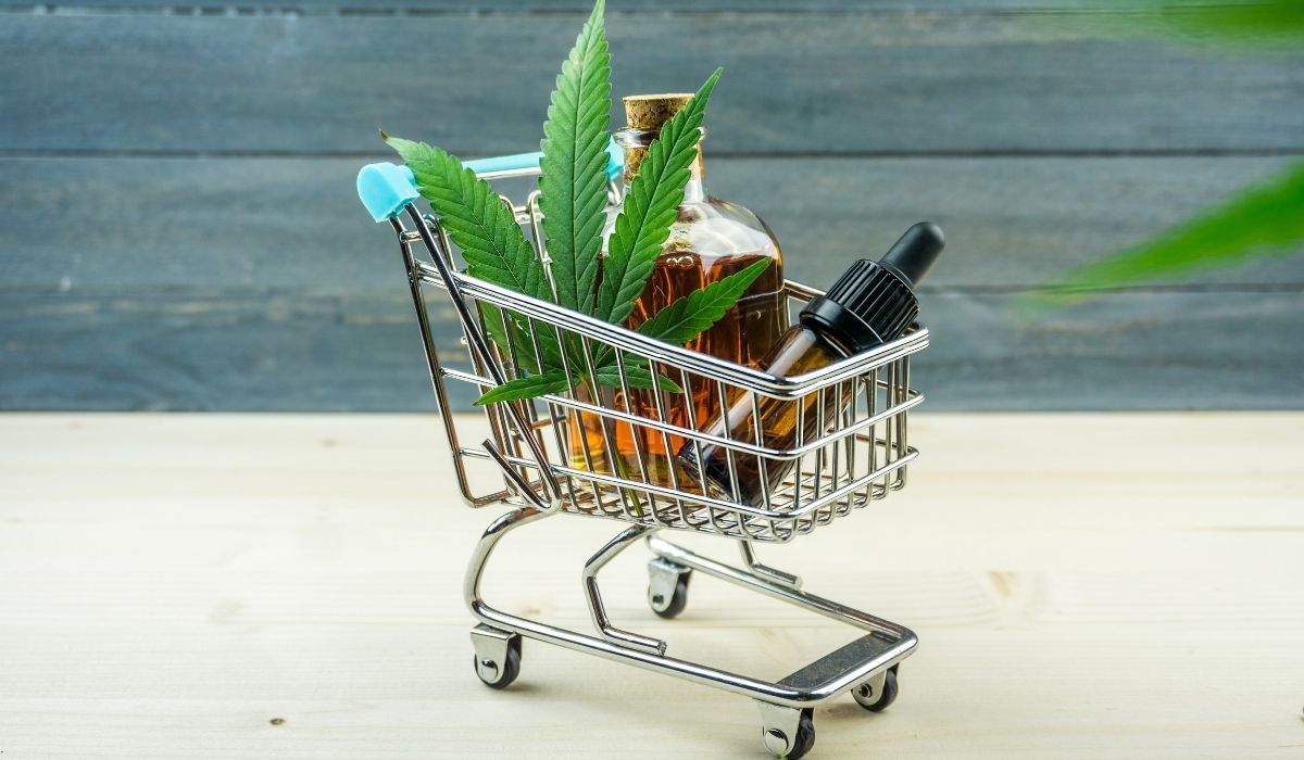 Shopping cart of CBD products